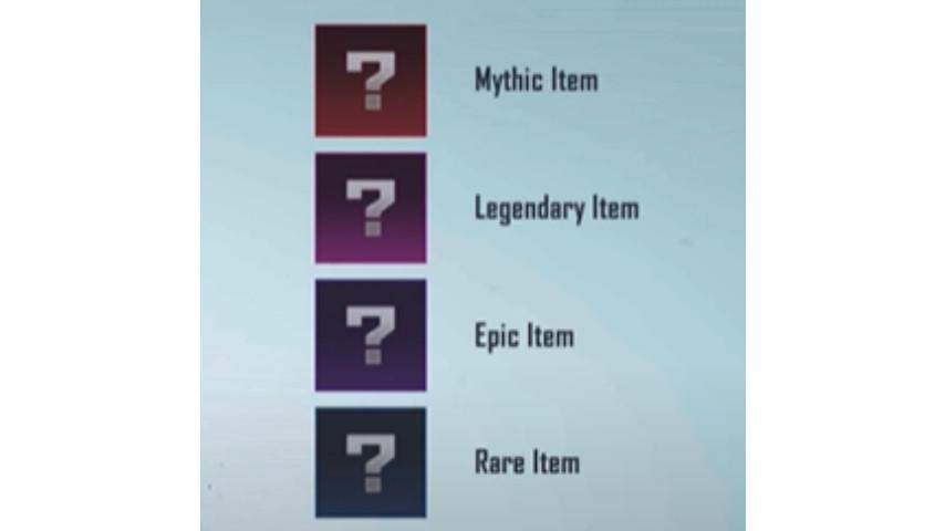 Pilih senjata Legendary atau Mythic PUBG