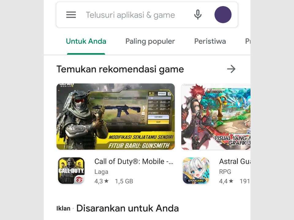 Buka Aplikasi untuk Screenshot Panjang