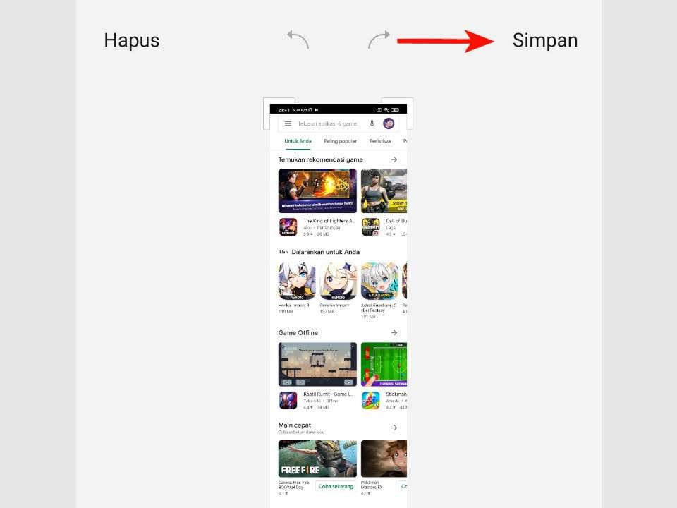 Simpan Hasil Screenshot Panjang