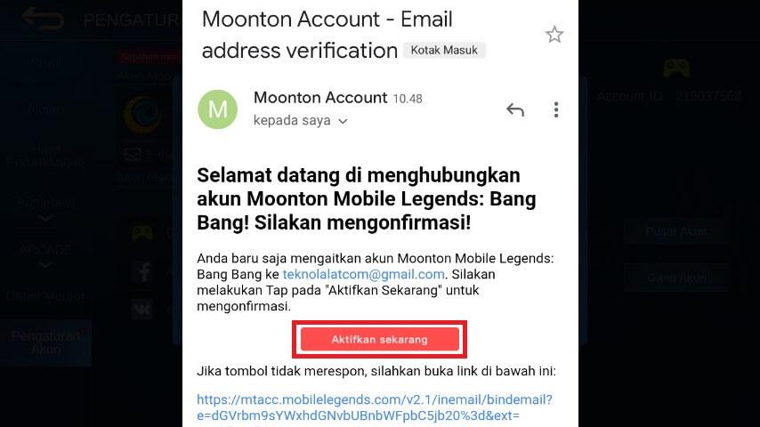verifikasi akun moonton
